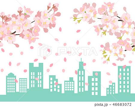桜の背景イラスト 46683072