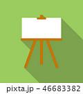 カンバス キャンバス イーゼルのイラスト 46683382