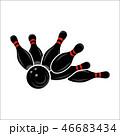 Bowling team or club emblem 46683434