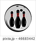 Bowling team or club emblem 46683442
