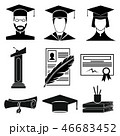 Graduation icons set 46683452