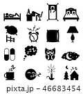 Sleeping icons set 46683454