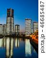海 日本 高層ビルの写真 46685487