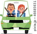 緑の車でドライブデート 46685631