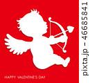 キューピッド 天使 バレンタインのイラスト 46685841