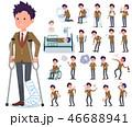 男性 学生 病気のイラスト 46688941