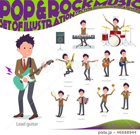 flat type school boy Brown Blazer_pop music 46688944