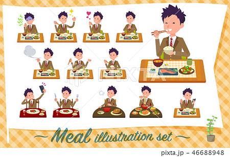 flat type school boy Brown Blazer_Meal 46688948