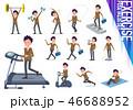 男性 学生 運動のイラスト 46688952