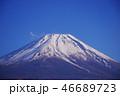 富士山 冬 冠雪の写真 46689723