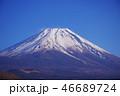富士山 冬 冠雪の写真 46689724
