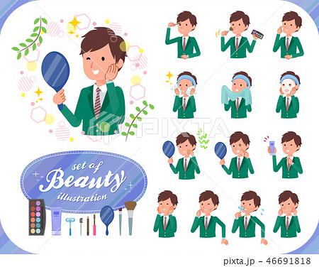 flat type school boy Green Blazer_beauty 46691818