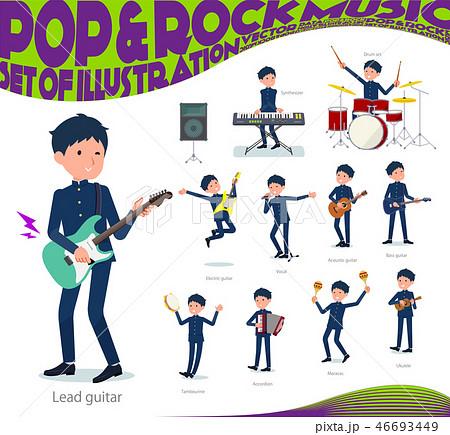 flat type school boy gakuran_pop music 46693449