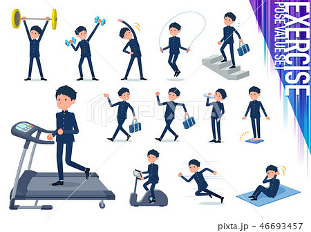 flat type school boy gakuran_exercise 46693457