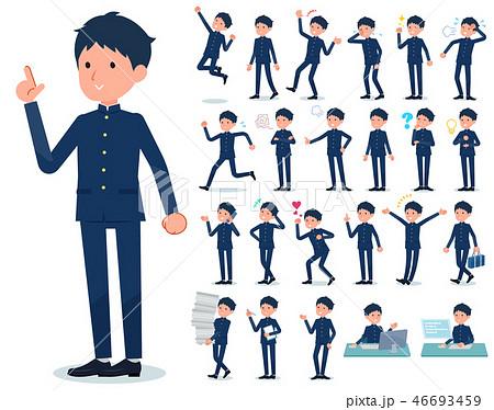 flat type school boy gakuran_emotion 46693459