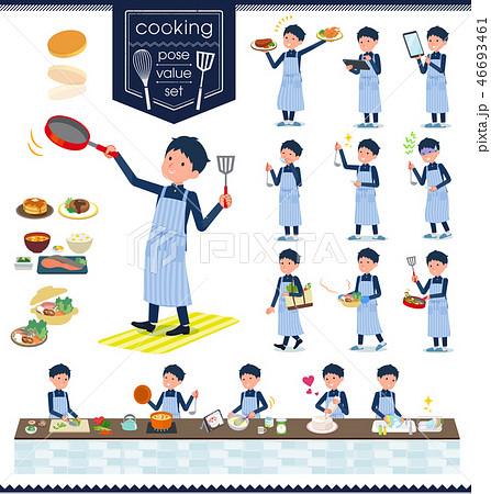 flat type school boy gakuran_cooking 46693461