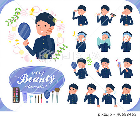 flat type school boy gakuran_beauty 46693465