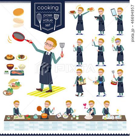 flat type blond hair businessman_cooking 46694957