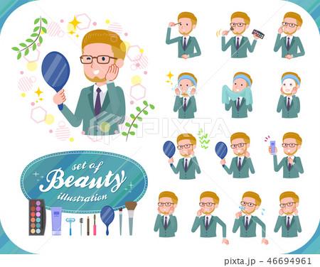 flat type blond hair businessman_beauty 46694961