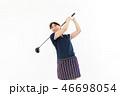 ゴルフ ゴルファー 女性の写真 46698054