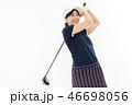 ゴルフ ゴルファー 女性の写真 46698056