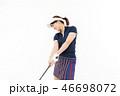 ゴルフ ゴルファー 女性の写真 46698072