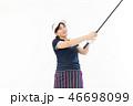 ゴルフ ゴルファー 女性の写真 46698099