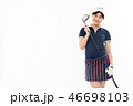 ゴルフ ゴルファー 女性の写真 46698103