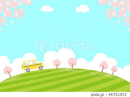 ドライブ 春 桜 46701952
