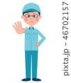 男性 作業服 作業員のイラスト 46702157