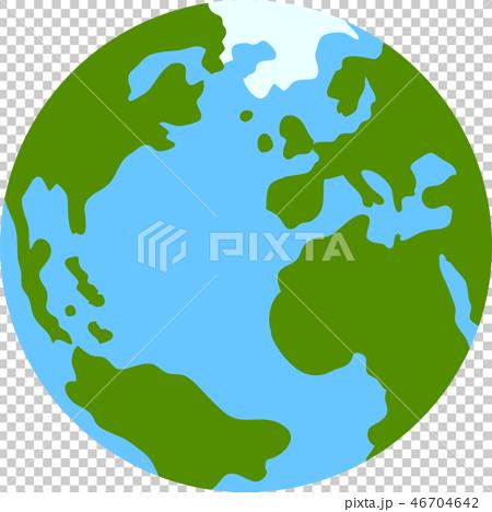 지구 아이콘 세계지도 지구본 그림 46704642