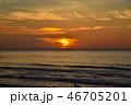 夕焼け 夕日 風景の写真 46705201