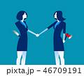 ビジネス 握手 ビジネスパーソンのイラスト 46709191