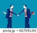 ビジネス 握手 ビジネスパーソンのイラスト 46709194