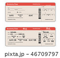 Blank and Filled in Airport Boarding Pass 46709797