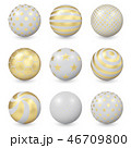 Abstract Balls with Gold Patterns 46709800