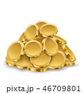Gold Coins Pile 46709801