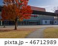 大分ホルトホールと紅葉 46712989