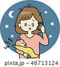 子育て 育児 お母さんのイラスト 46713124