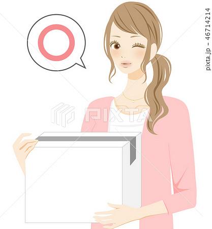 合格 入居する女性 引越し 荷物を持つ 46714214