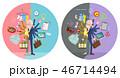 男性 シニア 両立のイラスト 46714494