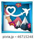 飛行機 ベクター 空のイラスト 46715248