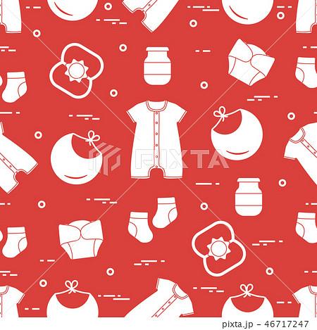 Newborn baby seamless pattern 46717247