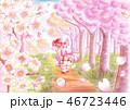 桜吹雪と恋くま 46723446