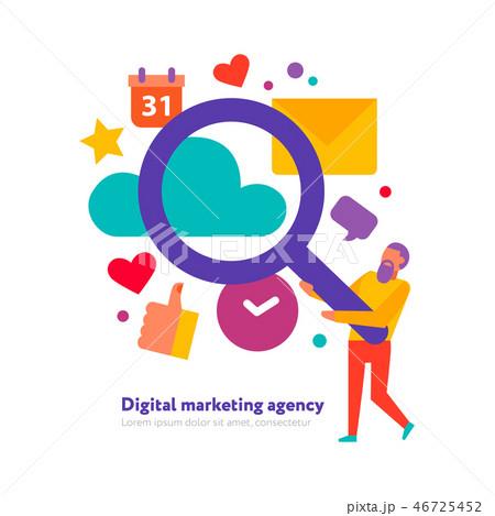 Digital Marketing Agency Illustration 46725452