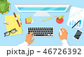 キーボード デスク 机のイラスト 46726392