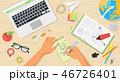 デスク 机 仕事のイラスト 46726401