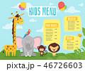 Kids food menu design template 46726603