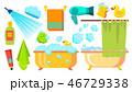 シャワー 浴びる ベクトルのイラスト 46729338