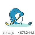 ゆるいペンギンのアイスホッケー 46732448